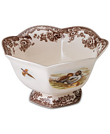 Spode Woodland Bird Footed Bowl