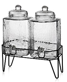 Jay Imports Hamburg Double 1.5-Gallon Beverage Dispenser Set with Stand