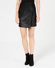 Faux-Leather Skirt, Created for Macy's