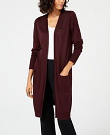 Alfani Midi Pocket Cardigan, Created for Macy's