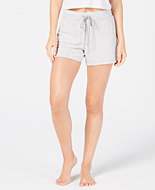 Alfani Brushed Hacci Knit Sleep Shorts, Created for Macy's