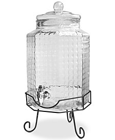 Jay Imports Charleston 2.75-Gallon Octagonal Beverage Dispenser with Stand