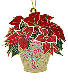 ChemArt Poinsettia Basket Ornament
