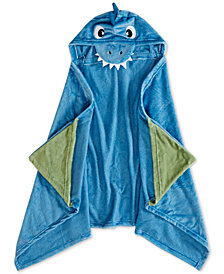 Urban Dreams Dusty The Dino Cotton Hooded Bath Towel, Created for Macy's