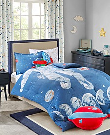 Stellar Space 100% Cotton Comforter Mini Set Twin, Created for Macy's