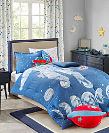 Urban Dreams Stellar Space 100% Cotton Comforter Mini Set Twin, Created for Macy's