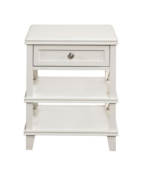 Alpine Furniture Potter Nightstand, White Finish
