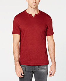 I.N.C. Men's Soft Touch Split-Neck T-Shirt, Created for Macy's