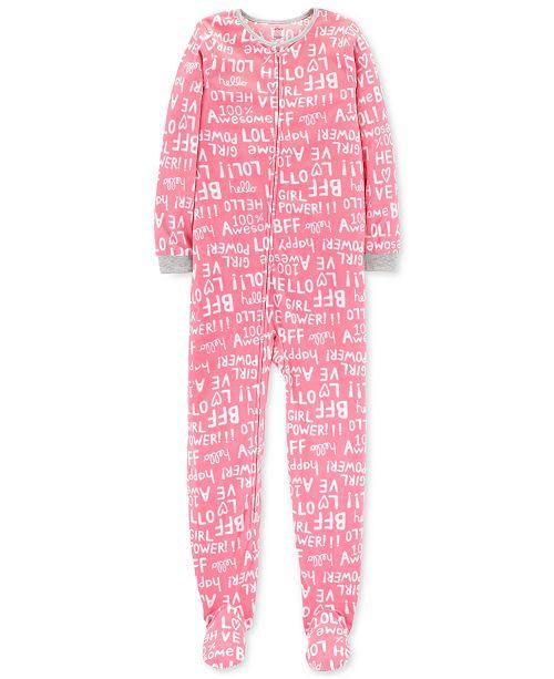 4589afd1159f Carter s Little   Big Girls Fleeced Footed Pajamas   Reviews ...