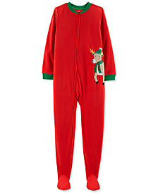 Carter's Little & Big Boys Footed Reindeer Fleece Pajamas
