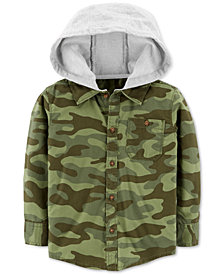 Carter's Toddler Boys Hooded Camo Cotton Shirt
