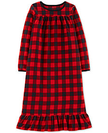 Carter's Big Girls Plaid Fleece Nightgown