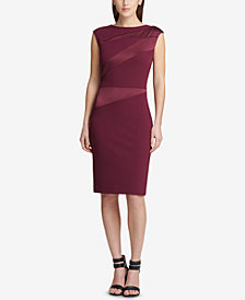 DKNY Cap-Sleeve Sheath Dress, Created for Macy's