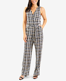 NY Collection Sleeveless Surplice Jumpsuit