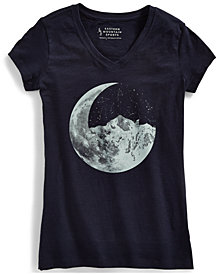 EMS® Women's Ride Moon Mountain Graphic V-Neck Tee