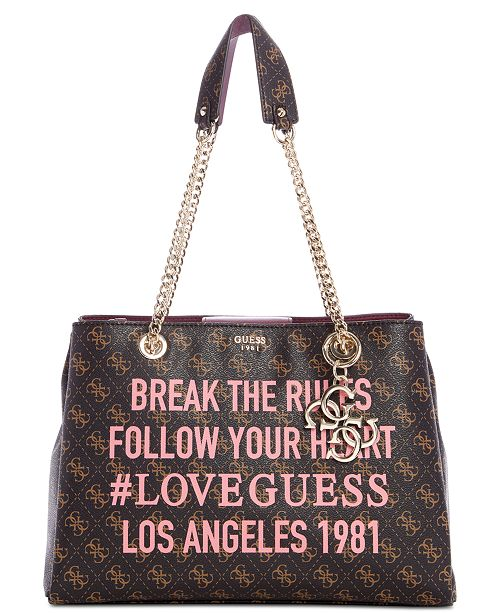 GUESS Mia Girlfriend Shoulder Bag   Reviews - Handbags ... 9e87f15053141