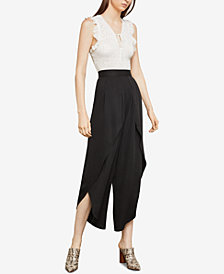 BCBGMAXAZRIA Pleated Wide-Leg Tulip Pants