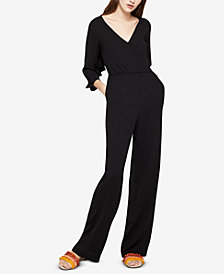 BCBGeneration Ruffled Open-Back Jumpsuit