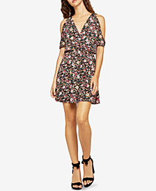 BCBGeneration Cold-Shoulder A-Line Dress