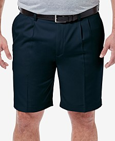 "Men's Big & Tall Cool 18 PRO Classic-Fit Stretch Pleated 9.5"" Shorts"