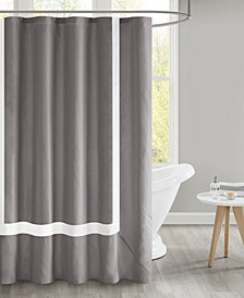 "Carroll 72"" x 72"" Pieced Border Shower Curtain with Liner"