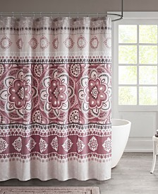 "510 Design Neda 72"" x 72"" Printed Shower Curtain"
