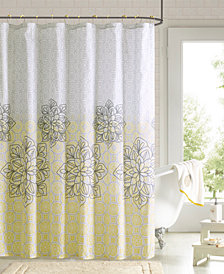 "90 by Design Lab Jessica 72"" x 72"" Printed Shower Curtain and Hook Set"