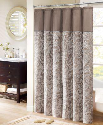 "Aubrey 72"" x 72"" Polyester Jacquard Shower Curtain"