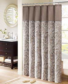 "Aubrey 72"" x 72"" Polyester Jacquard Shower Curtain"