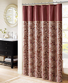 Madison Park Aubrey 72 X Polyester Jacquard Shower Curtain