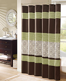 """Madison Park Briggs 72"""" x 72"""" Embroidered Shower Curtain"""