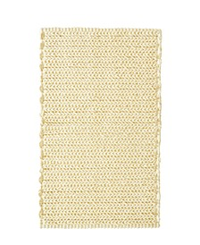 "Lasso 20"" x 30"" Pieced Dyed Cotton Chenille Chain Stitch Rug"
