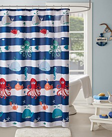 "Sealife 72"" x 72"" Printed Shower Curtain"
