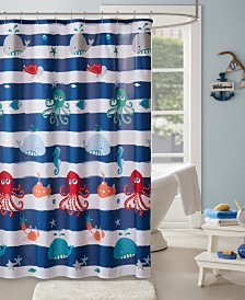 "Mi Zone Kids Sealife 72"" x 72"" Printed Shower Curtain"