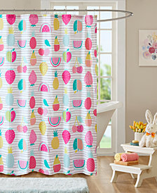 "Urban Habitat Kids Frutti Tutti 72"" x 72"" Cotton Printed Shower Curtain"