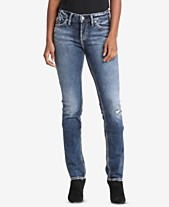 8cc52420bde Silver Jeans Co. Elyse Curvy-Fit Relaxed Straight-Leg Jeans