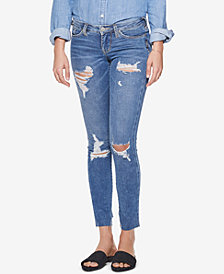 Silver Jeans Co. Landree Ripped Low-Rise Jeggings
