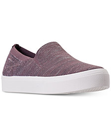 Skechers Women's Street Poppy Blurred Lines Slip-On Casual Sneakers from Finish Line