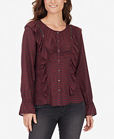 WILLIAM RAST SUSANNAH Plaid Prairie Blouse