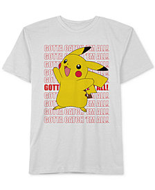 Pokémon Big Boys Pikachu Graphic Cotton T-Shirt