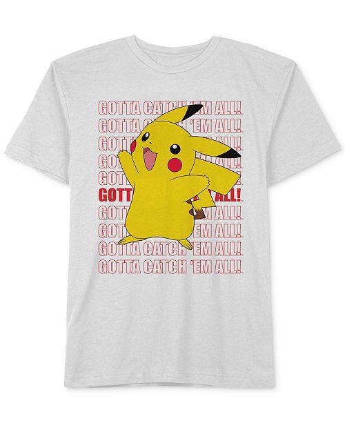4ce30cf7990e5 Pokemon Pokémon Big Boys Pikachu Graphic Cotton T-Shirt ...