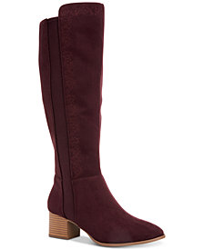 Style & Co. Finnly Embroidered Dress Boots, Created for Macy's