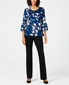 Alfani Printed Top & Trousers, Created for Macy's