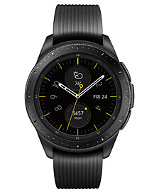 Samsung Unisex Galaxy Bluetooth Onyx Black Silicone Strap Smart Watch 42mm