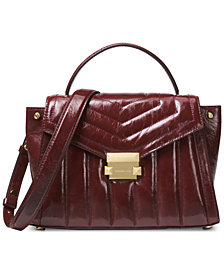 MICHAEL Michael Kors Whitney Polished Quilted Top Handle Satchel
