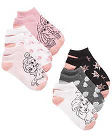 Disney Little & Big Girls 6-Pk. Princesses No-Show Socks