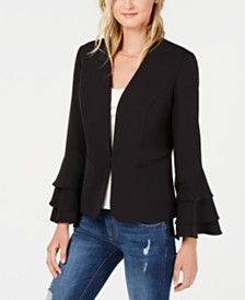 Bar III Bell-Sleeve Blazer, Created for Macy's