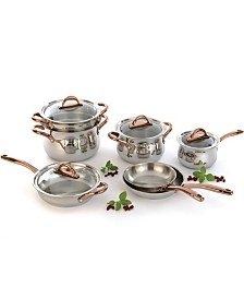 BergHoff Ouro Gold 18/10 Stainless Steel 11pc Cookware Set