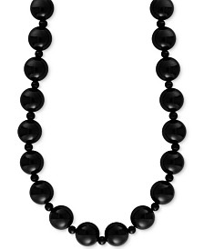 "EFFY® Onyx (4 & 10mm) Bead 20"" Statement Necklace"