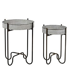 Easton Metal Planter Tables Set of 2